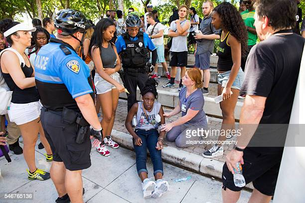 black lives matter in fort lauderdale - social inequality stock pictures, royalty-free photos & images