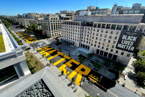 DC: BLM Plaza In Washington DC Is Re-Painted