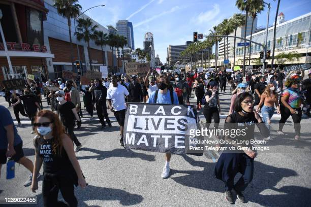 Black Lives Matter protest brought thousands to the streets of Long Beach on Sunday, May 31, 2020.