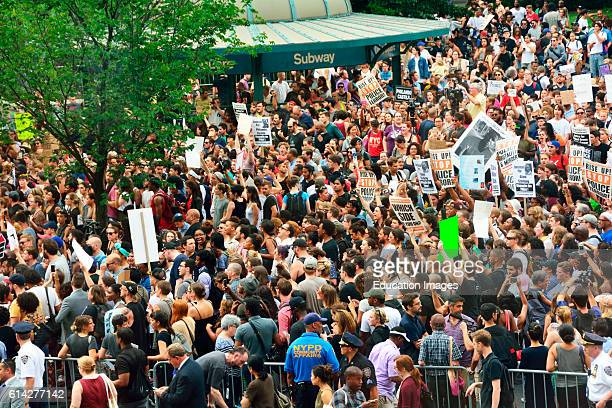 Black Lives Matter Protest Crowds in Union Square Park New York City