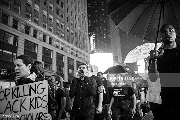 black lives matter protest in new york city - social justice concept stock pictures, royalty-free photos & images