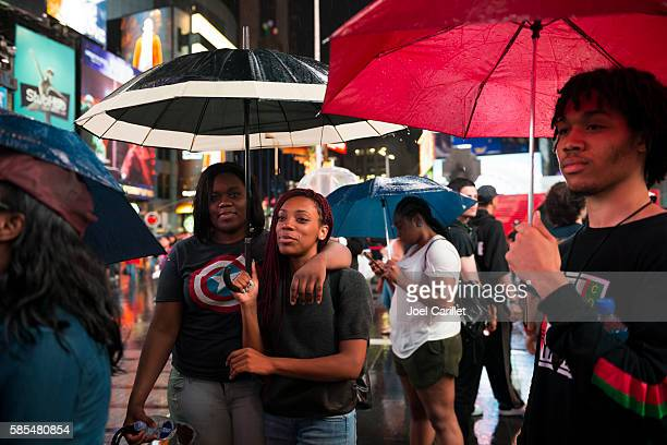 black lives matter protest in times square new york city - social justice concept stock pictures, royalty-free photos & images