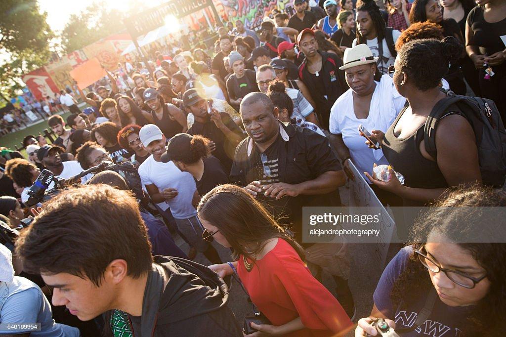 Black Lives Matter protest Miami : Stock Photo