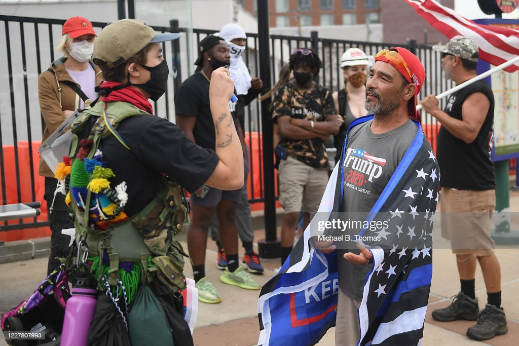 Activists Protest Possible Charges Against St Louis Couple Who Threatened Protestors : News Photo