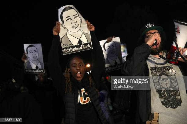 Black Lives Matter protesters march through the streets as they demonstrate the decision by Sacramento District Attorney to not charge the Sacramento...