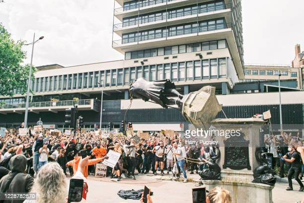 Black Lives Matter protesters toppled the statue of slave owner Sir Edward Colston on June 7 2020 in Bristol England Bristol wealth and prosperity...