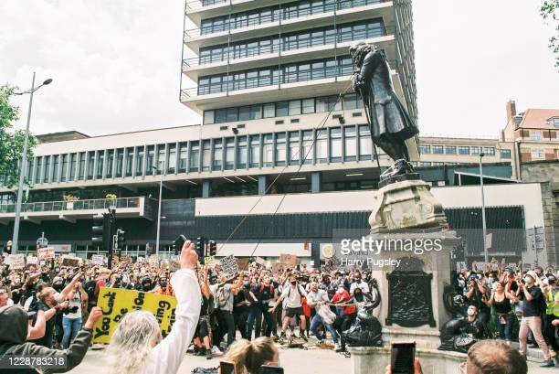Black Lives Matter protesters toppled the statue of slave owner Sir Edward Colston on June 7, 2020 in Bristol, England. Bristol wealth and prosperity...