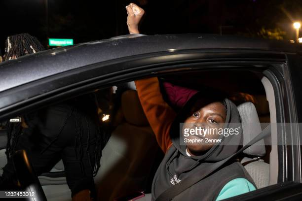 Black Lives Matter protesters travel through downtown in response to the police shooting of MaKhia Bryant on April 21, 2021 in Columbus, Ohio. The...