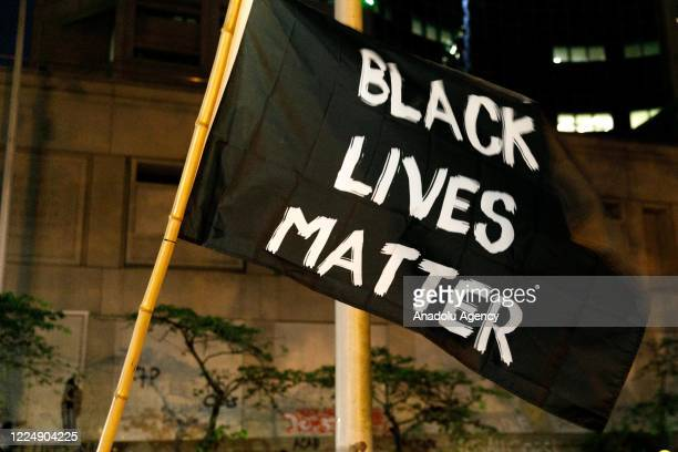 Black Lives Matter supporters demonstrate in Portland Oregon on July 4 2020 for the thirtyeighth day in a row at Portland's Justice Center and...