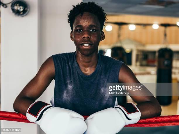 Black male boxer portrait