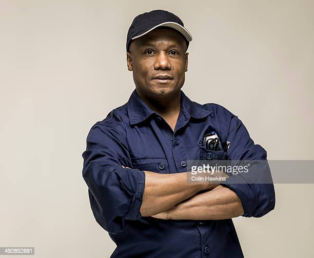 Black male in work clothes