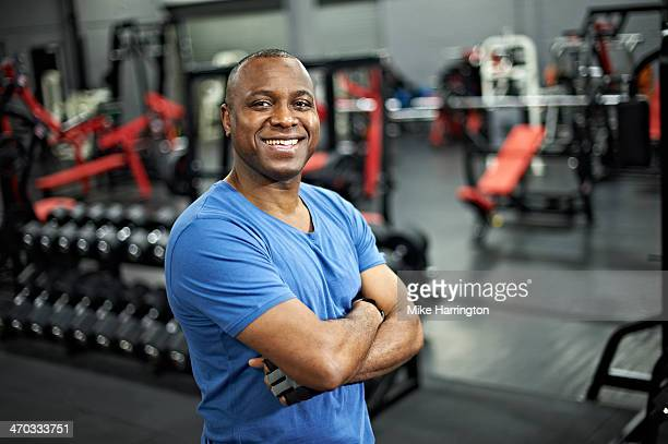 Black Male Standing in Gym After Workout