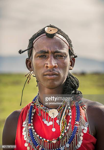Black man wearing traditional clothing