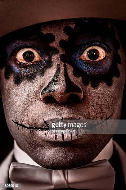 Black man with Sugar Skull makeup on his face (VI)