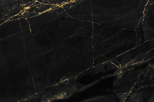 Black marble texture with gold pattern background design for cover book or brochure, poster or realistic business and design artwork. 1140850607