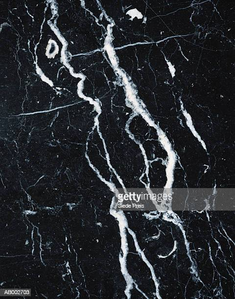 Black Marble with White Veins