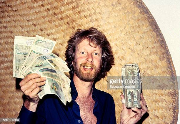Black market money bought in Nairobi for use in Zaire at enormously great savings 1982