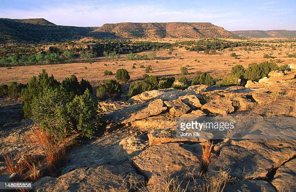 black mesa, highest point in oklahoma. - oklahoma stock pictures, royalty-free photos & images