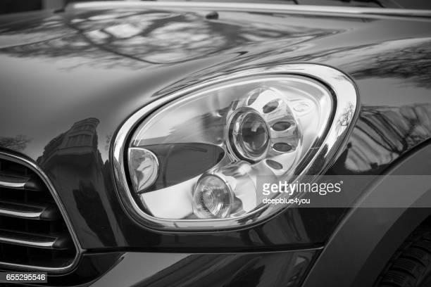 Black MINI car head light