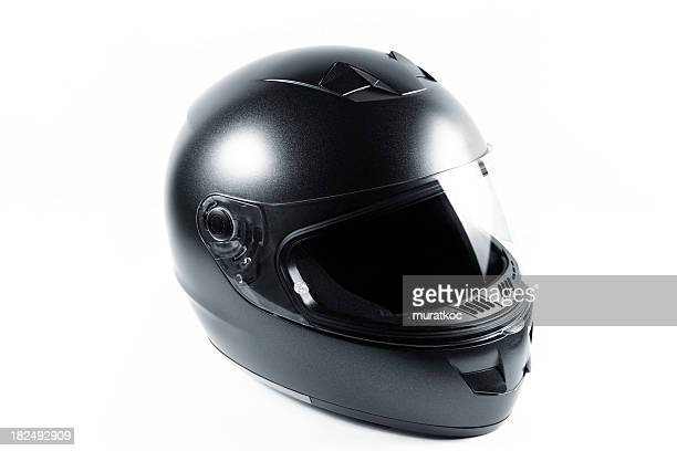 Motorcycle casco negro