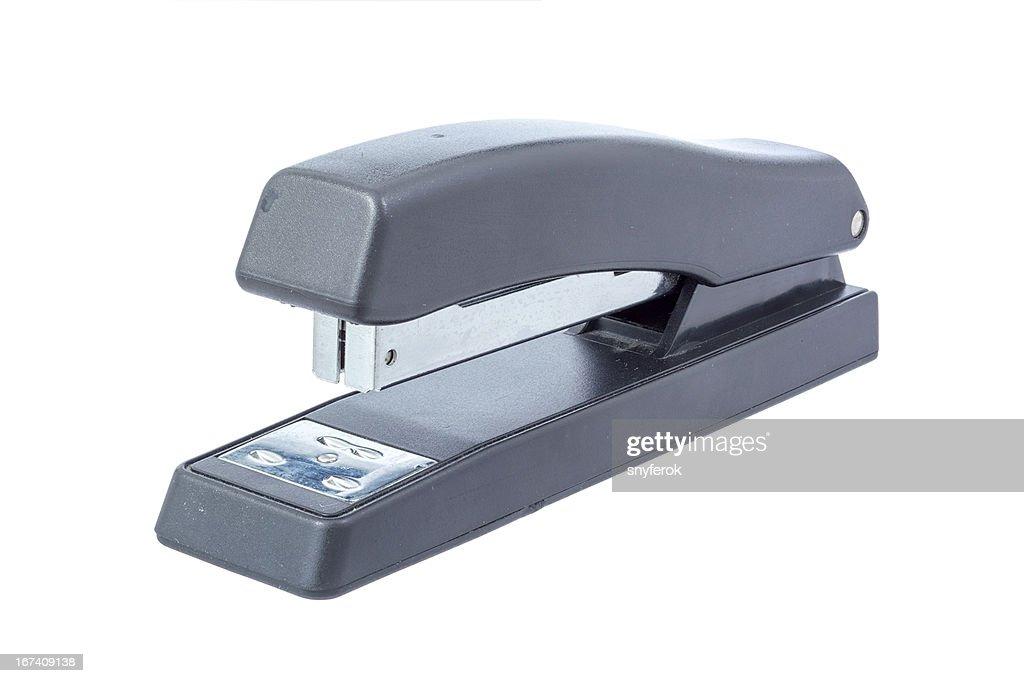 Black office stapler : Stock Photo