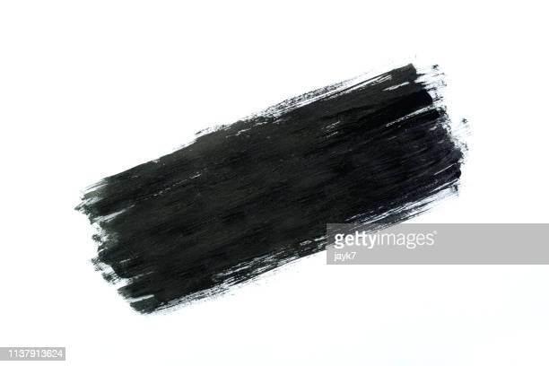 black paint - paintbrush stock pictures, royalty-free photos & images
