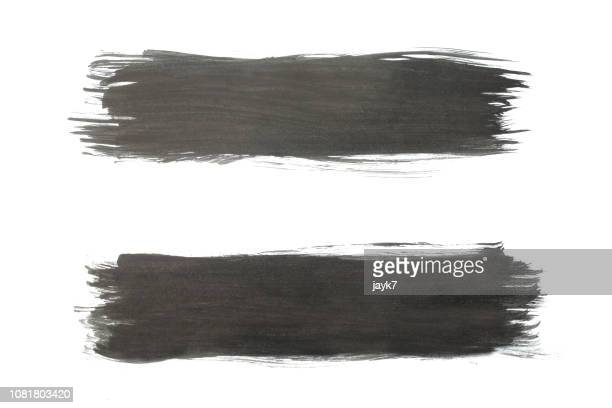 black paint strokes - stroke stock pictures, royalty-free photos & images