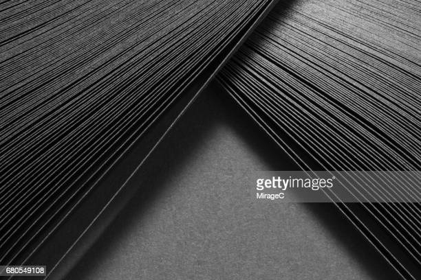 black paper stripes converge - integrated stock pictures, royalty-free photos & images
