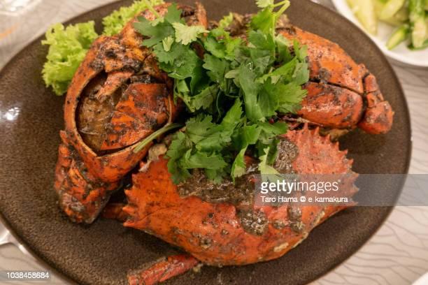 Black pepper crab in Singapore