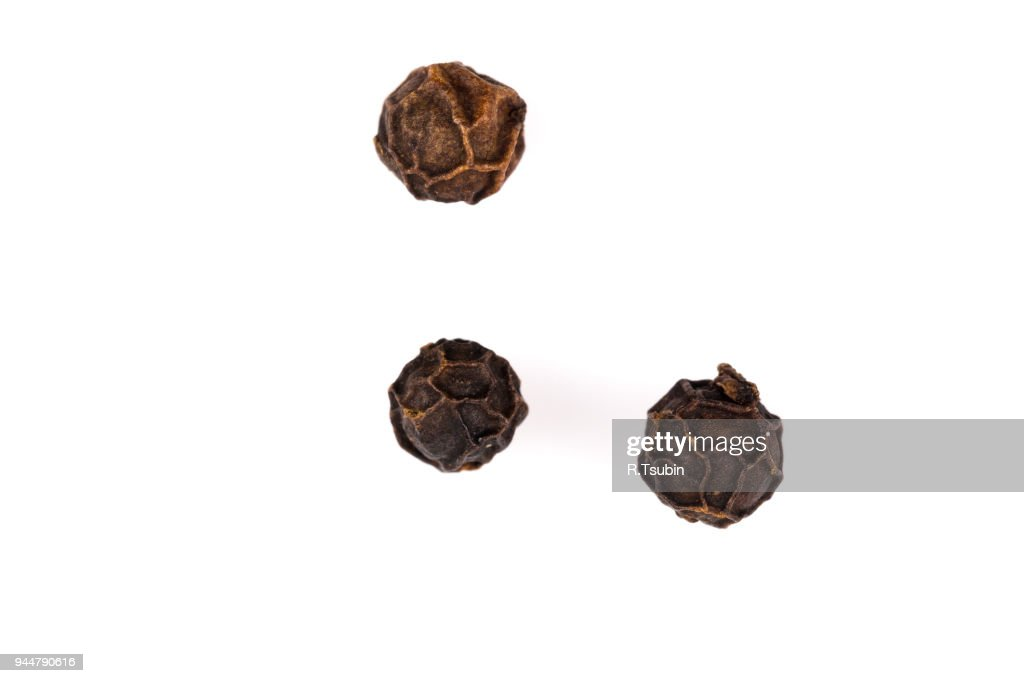 Black pepper seeds : Stock Photo