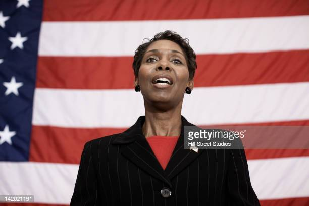black politician making speech - politician stock pictures, royalty-free photos & images