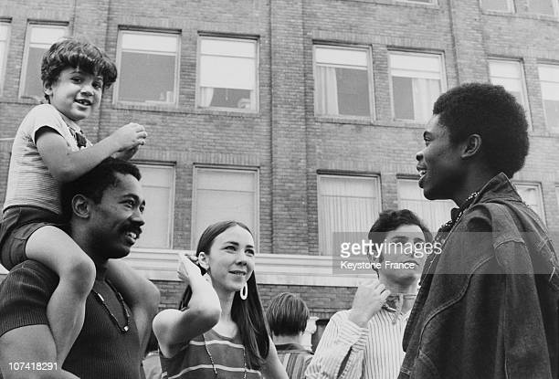 Black Power Among Students At Berkeley University In California On September 1968