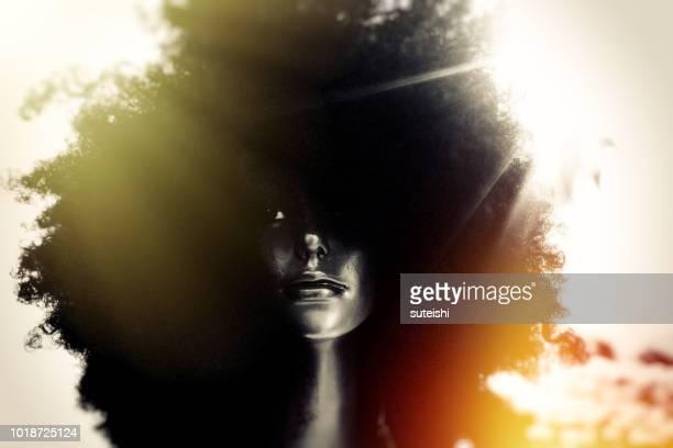 black power - afro frisur stock-fotos und bilder