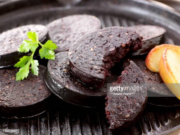 Black pudding with apple
