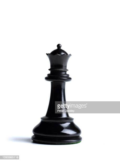 black queen chess piece - chess stock pictures, royalty-free photos & images