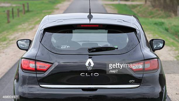 black renault clio 2013 hatchback - renault stock pictures, royalty-free photos & images