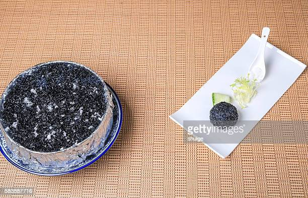 Black rice,Jiangnan cuisine. In wuxi city, jiangsu province, China