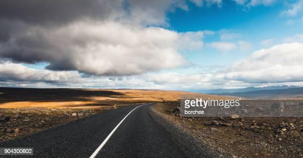 Schwarze Straße In Island