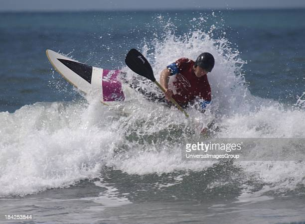 Black Rock Surf Kayak Contest Widemouth Bay Bude Cornwall UK