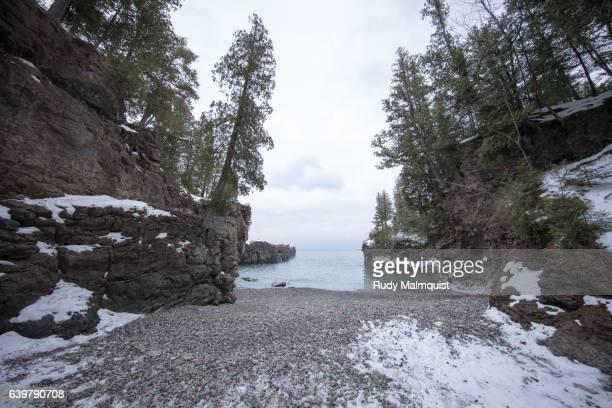 Black Rocks in Marquette, Michigan