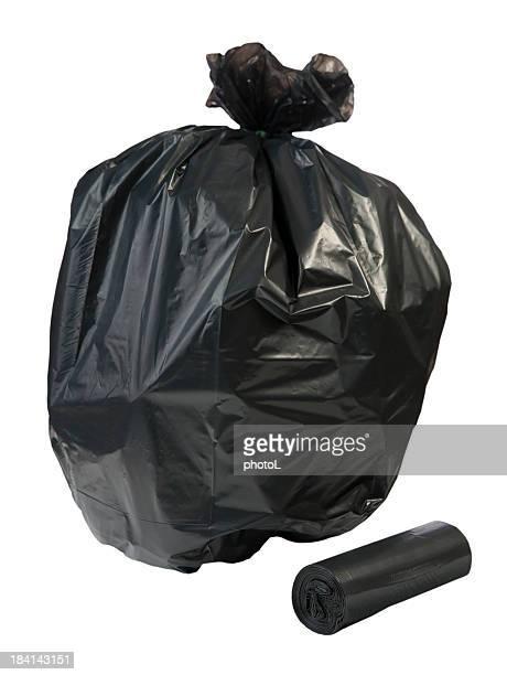 Black Müll Tasche, isoliert.