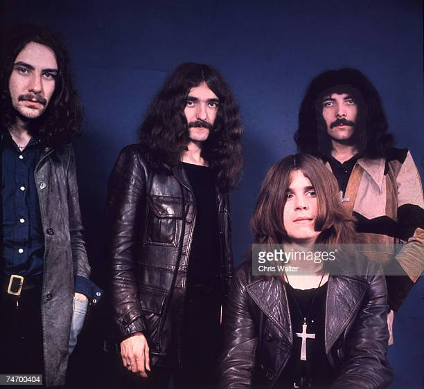 Black Sabbath 1970 Bill Ward Geezer Butler Ozzy Osbourne Tony Iommi during Black Sabbath File Photos in United Kingdom