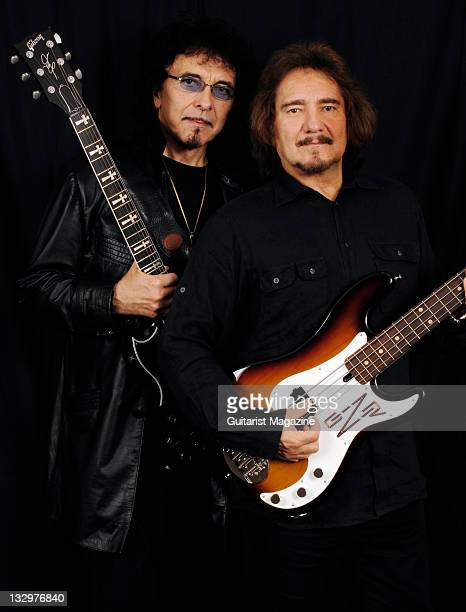 Black Sabbath guitarist's Toni Iommi with his Gibson Custom Shop SG and Geezer Butler with his custom Lakland Skyline bass guitar taken on June 12...