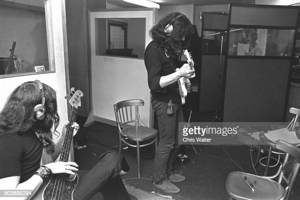 Black Sabbath June 17 1970 Geezer Butler Tony Iommi and Ozzy Osbourne at Regents Sounds during Paranoid sessions