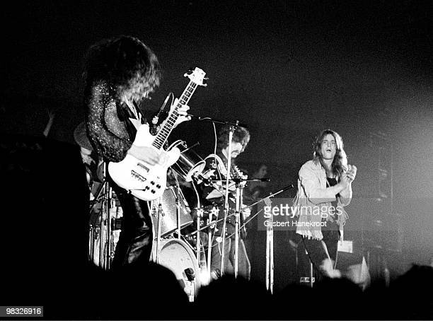 Black Sabbath perform live on stage at Paradiso in Amsterdam Holland on December 04 1971 LR Geezer Butler Tony Iommi Ozzy Osbourne