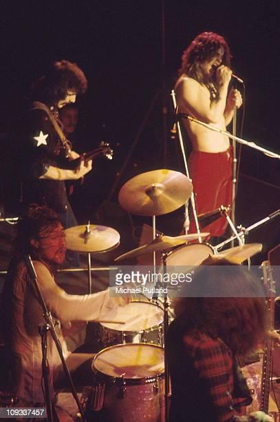 Black Sabbath perform on stage London LR Bill Ward Tony Iommi Ozzy Osbourne Geezer Butler