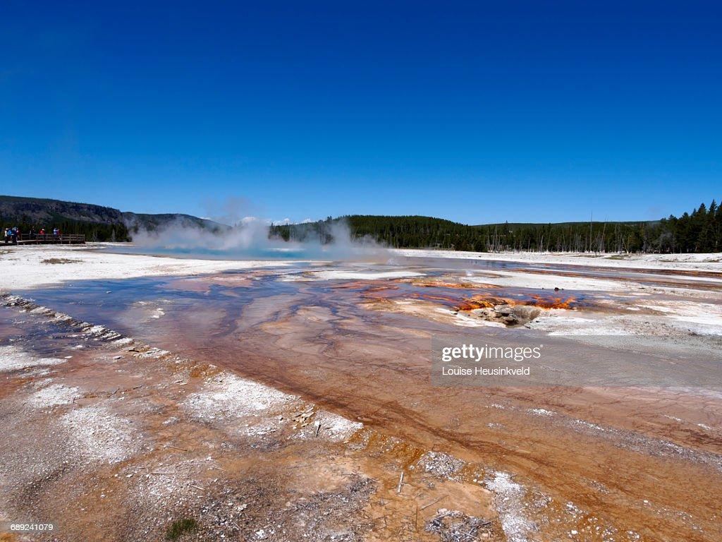 Black Sand Basin, Yellowstone National Park : Stock Photo