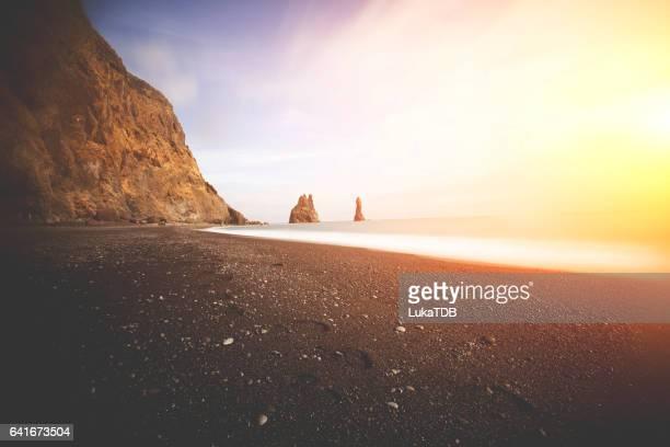 Plage de sable noir en Islande