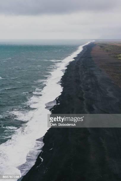 Black sand beach in Vik, Iceland