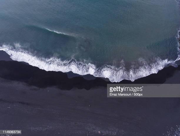 black sand beach - punalu'u_beach stock pictures, royalty-free photos & images